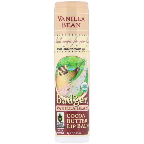 Badger Company, Organic, Cocoa Butter Lip Balm, Vanilla Bean, .25 oz (7 g) Review