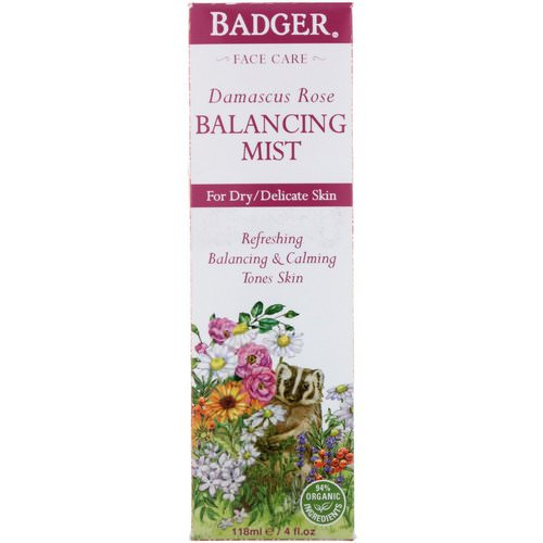 Badger Company, Damascus Rose, Balancing Mist, 4 fl oz (118 ml) Review