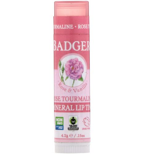 Badger Company, Mineral Lip Tint, Rose Tourmaline, .15 oz (4.2 g) Review