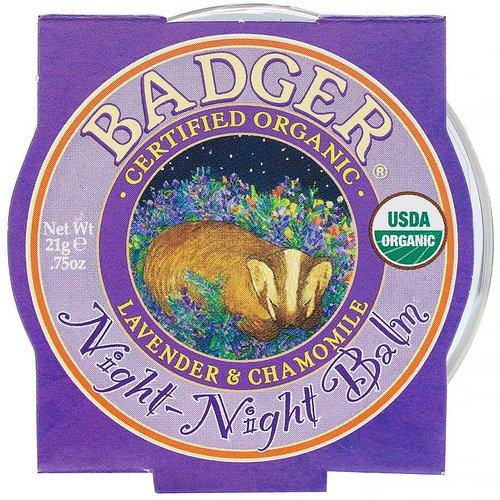 Badger Company, Organic, Night-Night Balm, Lavender & Chamomile, .75 oz (21 g) Review