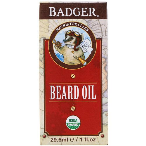 Badger Company, Organic Beard Oil, Navigator Class, 1 fl oz (29.6 ml) Review