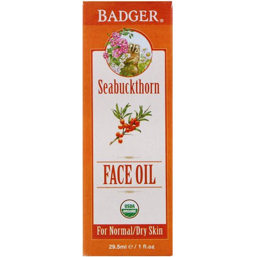 Badger Company, Organic Face Oil, Seabuckthorn, For Normal/Dry Skin, 1 fl oz (29.5 ml) Review
