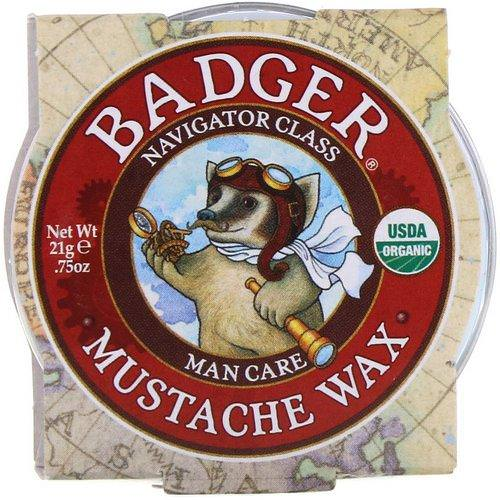 Badger Company, Organic Mustache Wax, Man Care, .75 oz (21 g) Review