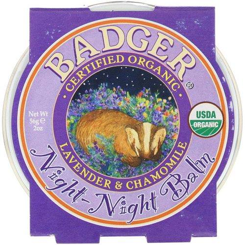 Badger Company, Organic, Night-Night Balm, Lavender & Chamomile, 2 oz (56 g) Review