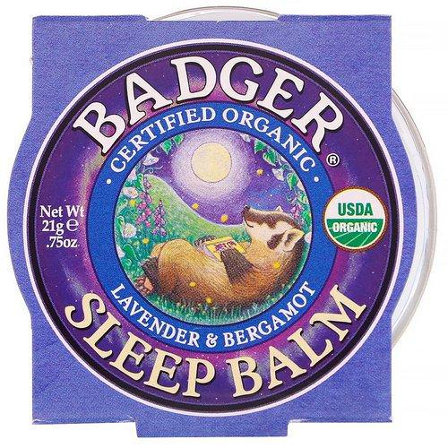Badger Company, Organic, Sleep Balm, Lavender & Bergamot, .75 oz (21 g) Review