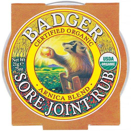Badger Company, Organic, Sore Joint Rub, Arnica Blend, .75 oz (21 g) Review