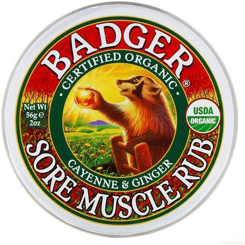 Badger Company, Organic, Sore Muscle Rub, Cayenne & Ginger, 2 oz (56 g) Review