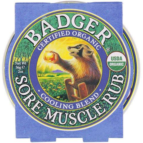 Badger Company, Organic Sore Muscle Rub, Cooling Blend, 2 oz (56 g) Review