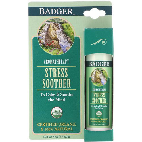 Badger Company, Stress Soother, Tangerine & Rosemary, .60 oz (17 g) Review