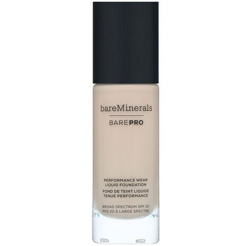Bare Minerals, BAREPRO, Performance Wear, Liquid Foundation, SPF 20, Fair 01, 1 fl oz (30 ml) Review