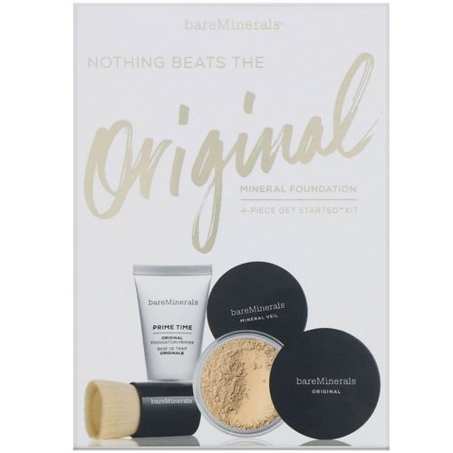 Bare Minerals, Nothing Beats the Original Mineral Foundation, 4 Piece Get Started Kit, Medium Tan 18, 1 Kit Review