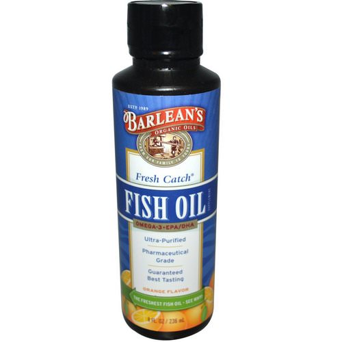 Barlean's, Fresh Catch Fish Oil, Omega-3 EPA/DHA, Orange Flavor, 8 fl oz (236 ml) Review
