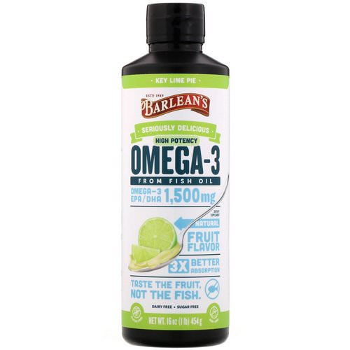 Barlean's, Omega-3 Fish Oil, Key Lime Pie, 16 oz (454 g) Review