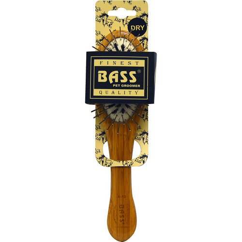 Bass Brushes, Wire/Boar Pet Groomer Oval, Small, 1 Brush Review