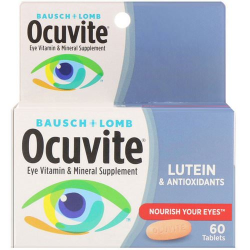 Bausch & Lomb, Eye Vitamin & Mineral Supplement, Lutein & Antioxidants, 60 Tablets Review