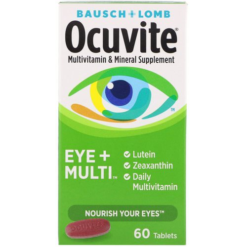 Bausch & Lomb, Ocuvite, Eye + Multi, 60 Tablets Review