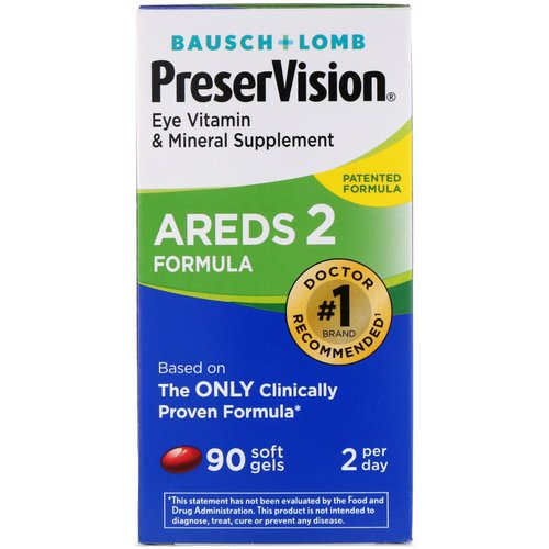 Bausch & Lomb, PreserVision, AREDS 2 Formula, 90 Soft Gels Review