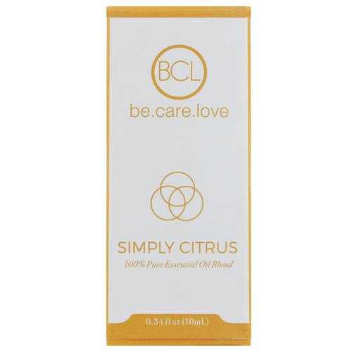BCL, Be Care Love, 100% Pure Essential Oil Blend, Simply Citrus, 0.34 fl oz (10 ml) Review