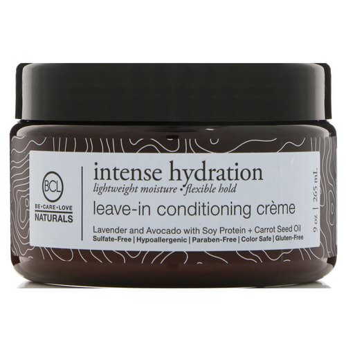 BCL, Be Care Love, Naturals, Intense Hydration, Leave-In Conditioning Cream, 9 oz (265 ml) Review