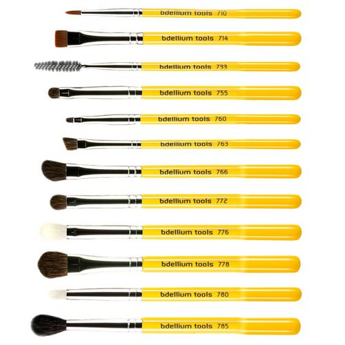 Bdellium Tools, Studio Line, Eyes Brush Set and Pouch, 12 Pc Set Review