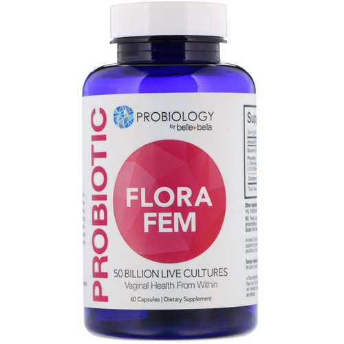 Belle+Bella, Probiology, Probiotic Flora Fem, 50 Billion CFU, 60 Capsules Review