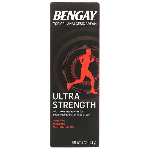 Bengay, Topical Analgesic Cream, Ultra Strength, 4 oz (113 g) Review