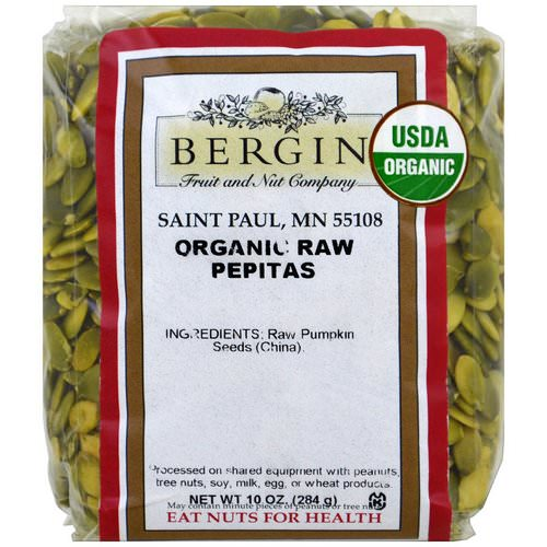 Bergin Fruit and Nut Company, Organic Raw Pepitas, 10 oz (284 g) Review