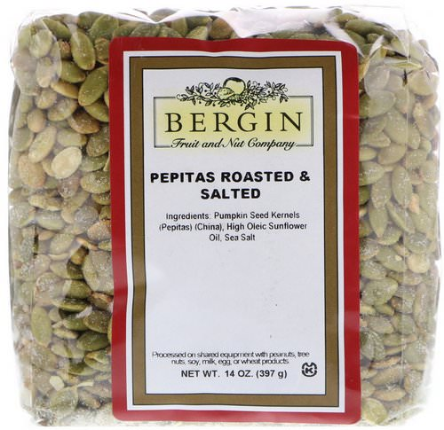 Bergin Fruit and Nut Company, Pepitas Roasted & Salted, 14 oz (397 g) Review