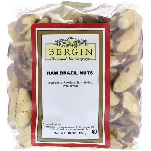 Bergin Fruit and Nut Company, Raw Brazil Nuts, 16 oz (454 g) Review