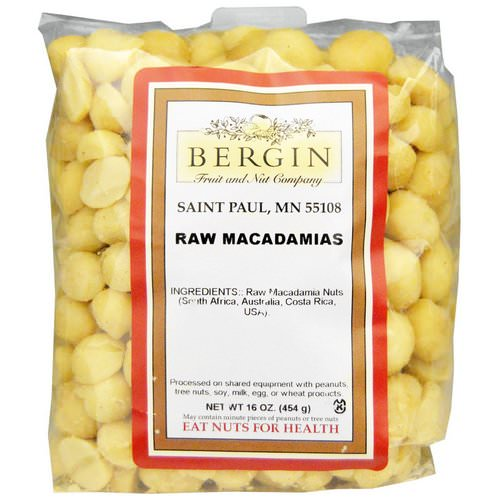 Bergin Fruit and Nut Company, Raw Macadamias, 16 oz (454 g) Review