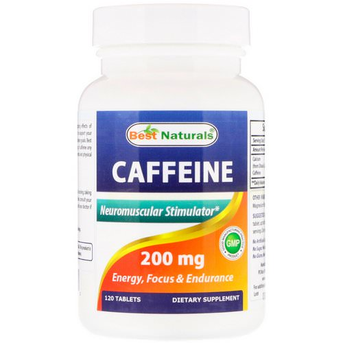 Best Naturals, Caffeine, 200 mg, 120 Tablets Review