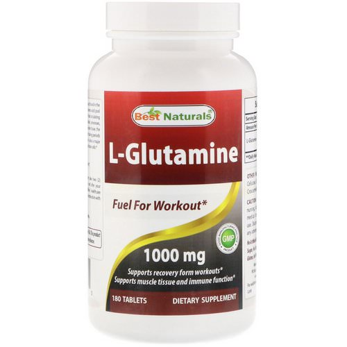 Best Naturals, L-Glutamine, 1000 mg, 180 Tablets Review