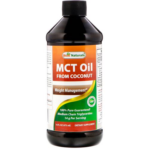 Best Naturals, MCT Oil From Coconut, 16 fl oz (473 ml) Review