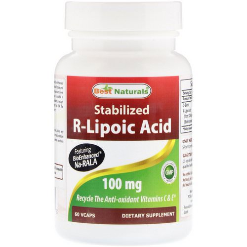 Best Naturals, Stabilized R-Lipoic Acid, 100 mg, 60 VCaps Review