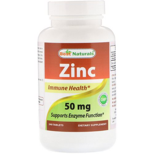 Best Naturals, Zinc, 50 mg, 240 Tablets Review