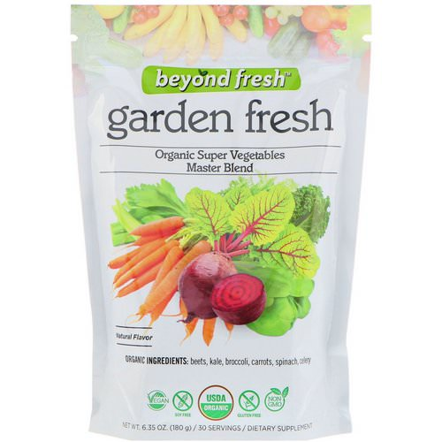 Beyond Fresh, Garden Fresh, Organic Super Vegetables Master Blend, Natural Flavor, 6.35 oz (180 g) Review