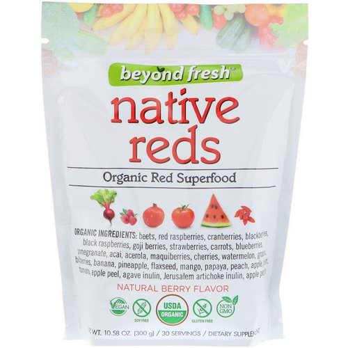 Beyond Fresh, Native Reds, Organic Red Superfood, Natural Berry Flavor, 10.58 oz (300 g) Review