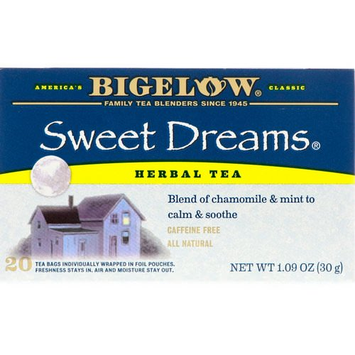 Bigelow, Sweet Dreams Herbal Tea, Caffeine Free, 20 Tea Bags, 1.09 oz (30 g) Review