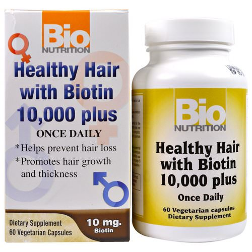 Bio Nutrition, Healthy Hair with Biotin 10,000 Plus, 60 Veggie Caps Review