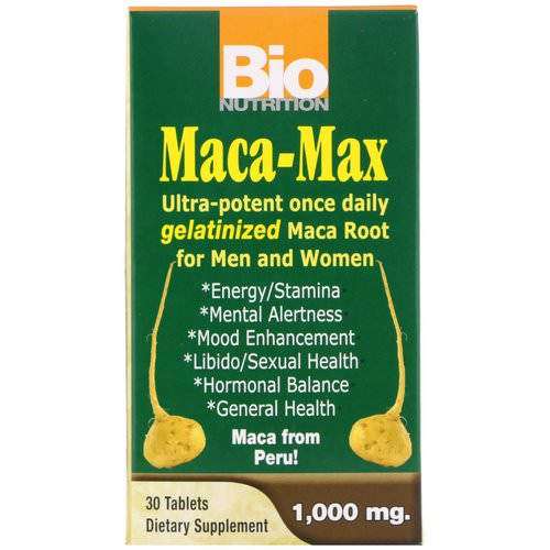 Bio Nutrition, Maca Max, 1,000 mg, 30 Tablets Review