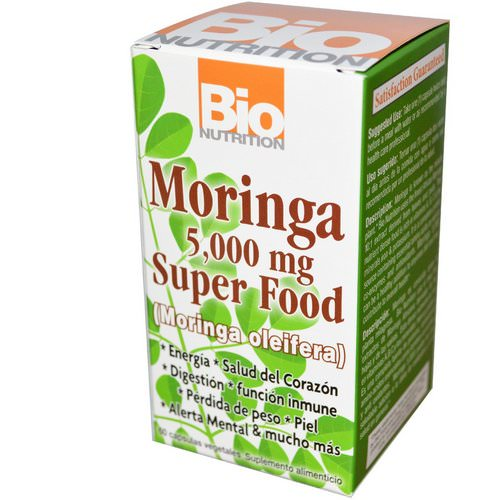 Bio Nutrition, Moringa Super Food, 500 mg, 60 Veggie Caps Review