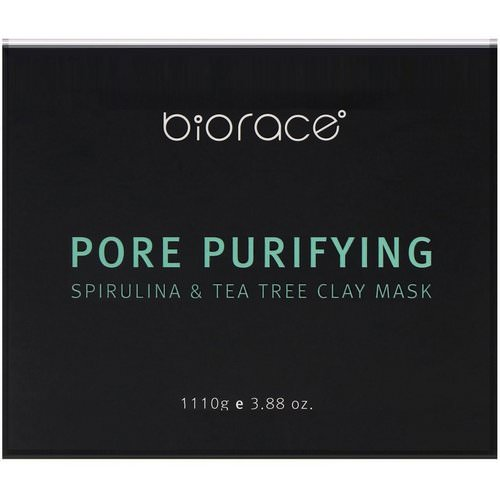 Biorace, Pore Purifying, Spirulina & Tea Tree Clay Mask, 3.88 oz (110 g) Review