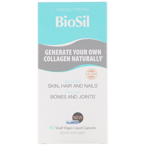 BioSil by Natural Factors, Advanced Collagen Generator, 60 Small Vegan Liquid Capsules Review