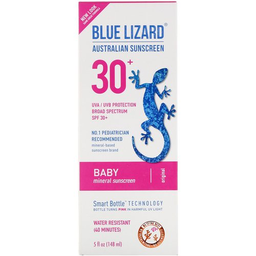 Blue Lizard Australian Sunscreen, Baby, Mineral Sunscreen, SPF 30+, 5 fl oz (148 ml) Review