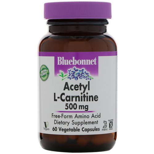 Bluebonnet Nutrition, Acetyl L-Carnitine, 500 mg, 60 Vegetable Capsules Review