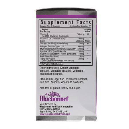 Bluebonnet Nutrition, Hair, Skin, Nails Formulas