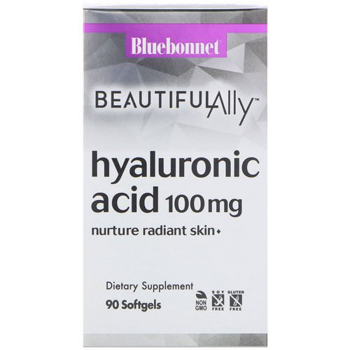 Bluebonnet Nutrition, Beautiful Ally, Hyaluronic Acid, 100 mg, 90 Softgels Review