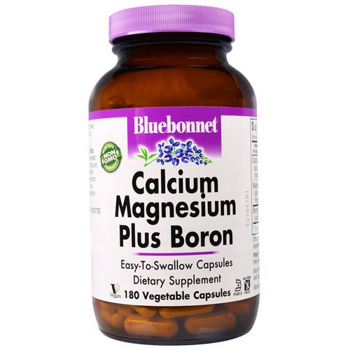 Bluebonnet Nutrition, Calcium Magnesium Plus Boron, 180 Veggie Caps Review