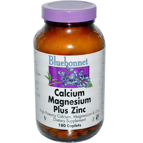 Bluebonnet Nutrition, Calcium Magnesium Plus Zinc, 180 Caplets Review