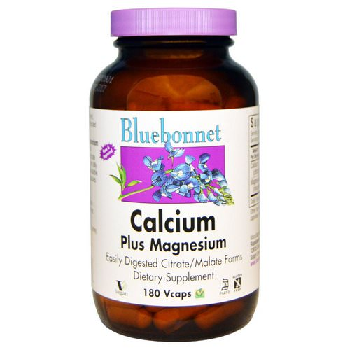 Bluebonnet Nutrition, Calcium Plus Magnesium, 180 Veggie Caps Review